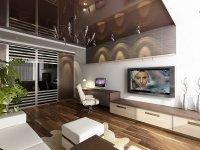 Дизайн однокомнатной квартиры с детской зоной