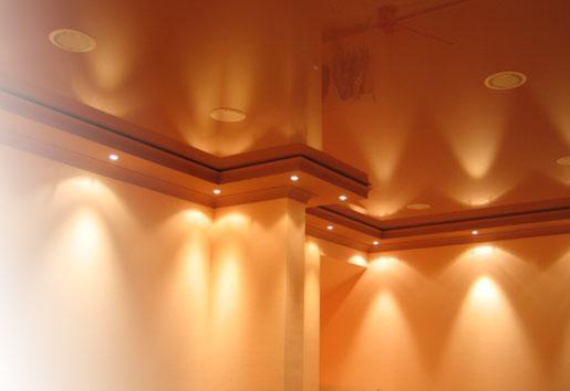 Освещение под пол