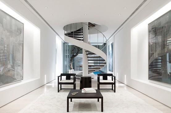 Использование пространства над лестницей