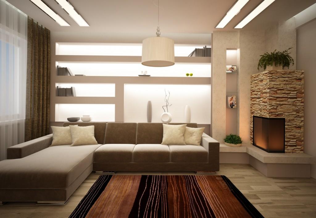 Освещение в зале квартиры