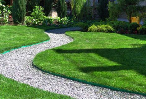 Красивые формы газона