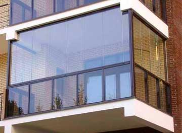 Конструкция балконного ограждения под фасадное остекление