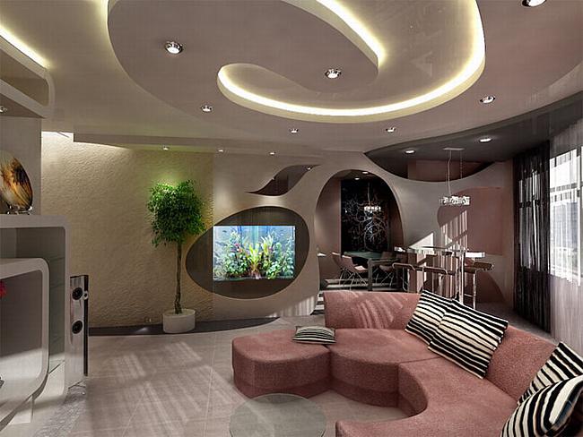Дизайн комнаты с нишей