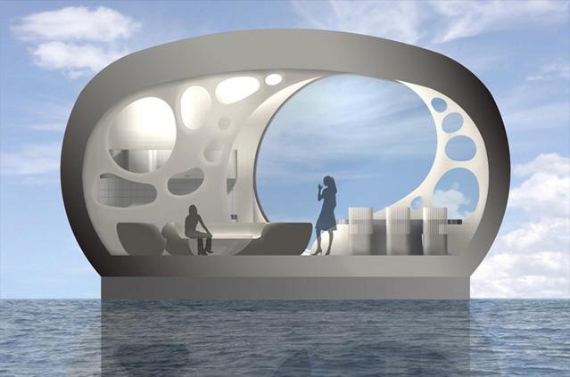 Конструкция плавучего дома