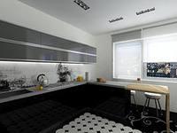 Дизайн кухни с окном над столешницей