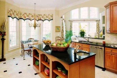 Дизайн ремонта кухни загородного дома.