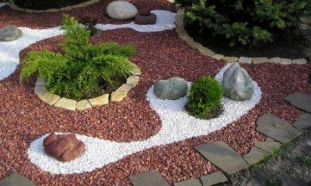 Щебень или гравий в ландшафтном дизайне