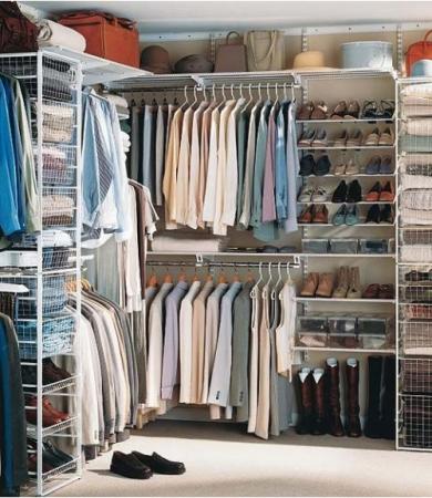 Организация пространства в шкафах