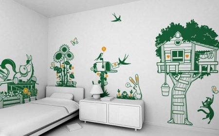 Стены в детской комнате. Идеи дизайна
