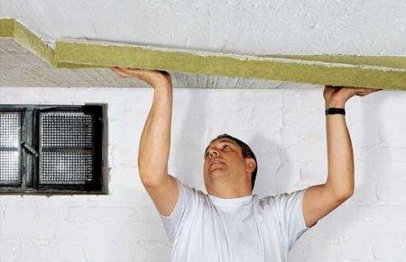 Теплоизоляция потолка в подвале своими руками