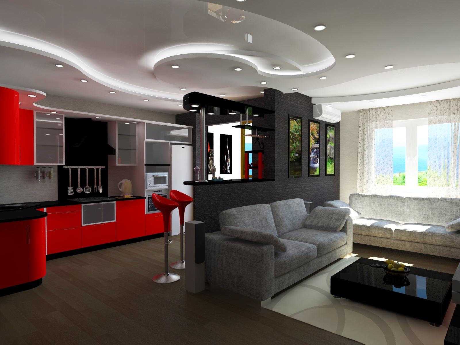Фото дизайна квартиры студия