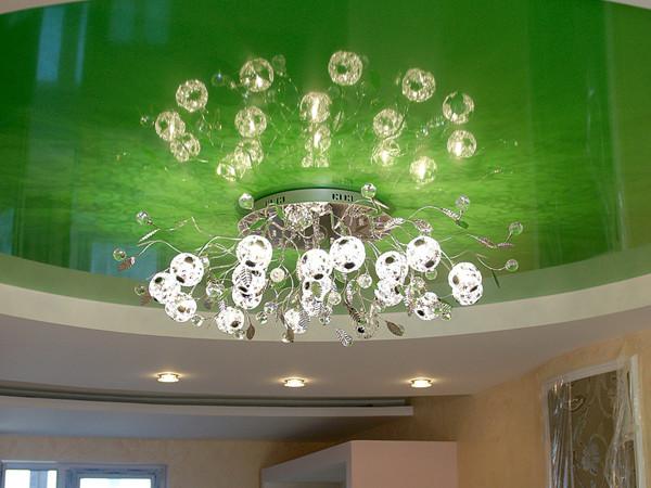 Утопление люстры в подвесной потолок