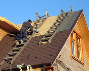 Установка крыши с плитами OSB