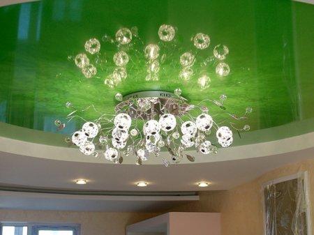 Монтаж люстры на натяжной потолок самостоятельно