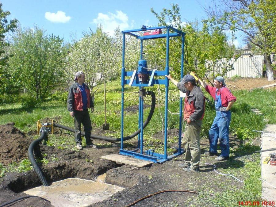 Современный способ бурения скважины на воду