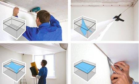 Выбор технологии монтажа натяжных потолков