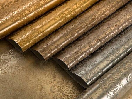 Металлизированные обои в интерьере – красота и долговечность металла для ва ...