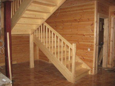 Описание деревянных лестниц на второй этаж