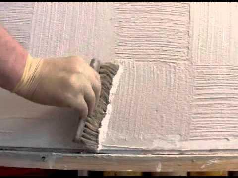 Отделка стен при помощи декоративной штукатурки