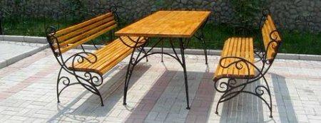 Кованная мебель для сада