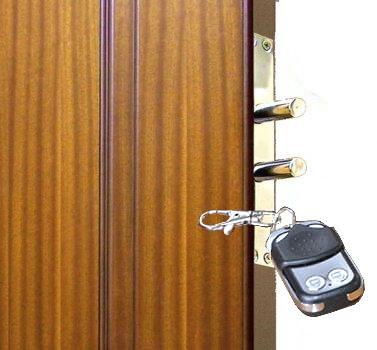 """Электронный замок ТИТАН """"Chrome"""" абсолютно невидим снаружи, вместо ключа служит радиобрелок"""