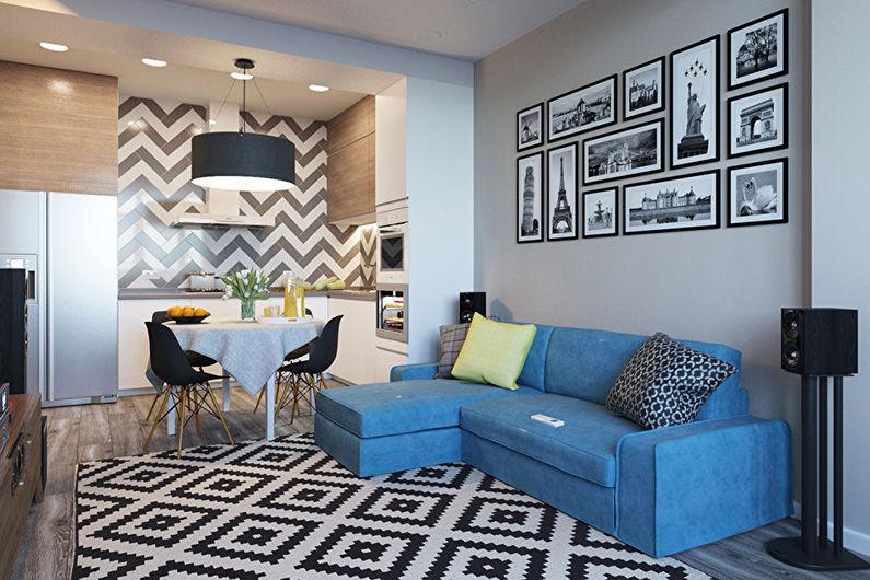Как лучше обставить однокомнатную квартиру - советы от школы дизайна